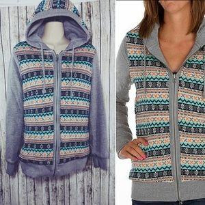Oakley reversible hooded sweater / sweatshirt Sz M